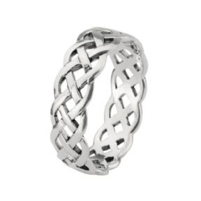 Celtic Knotwork Silver Band Ring 0761